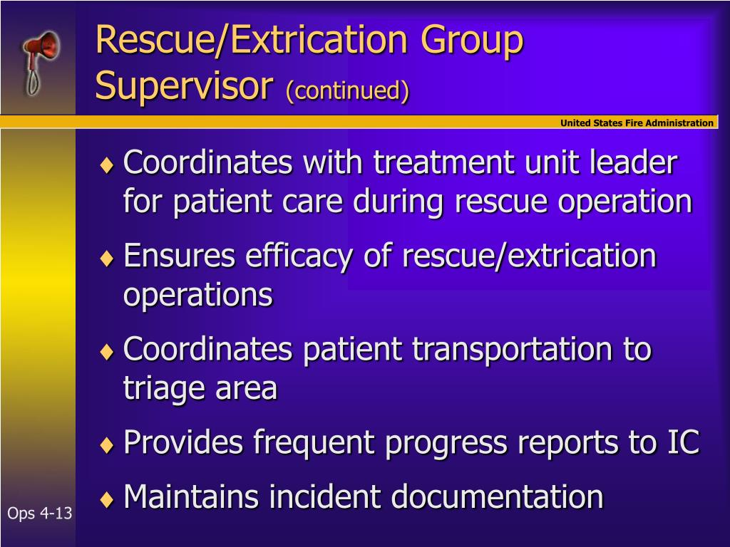Rescue/Extrication Group Supervisor