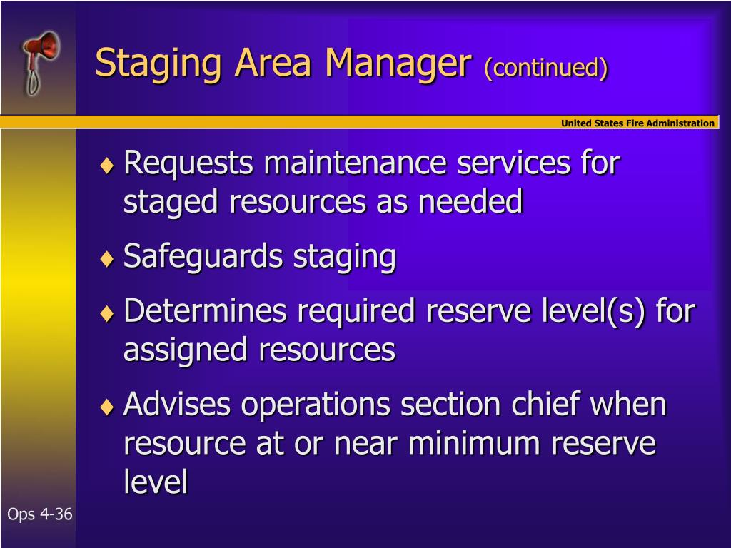 Staging Area Manager
