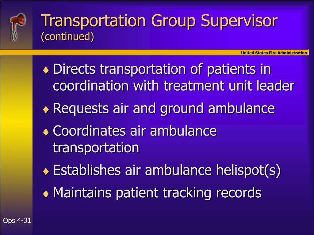 Transportation Group Supervisor