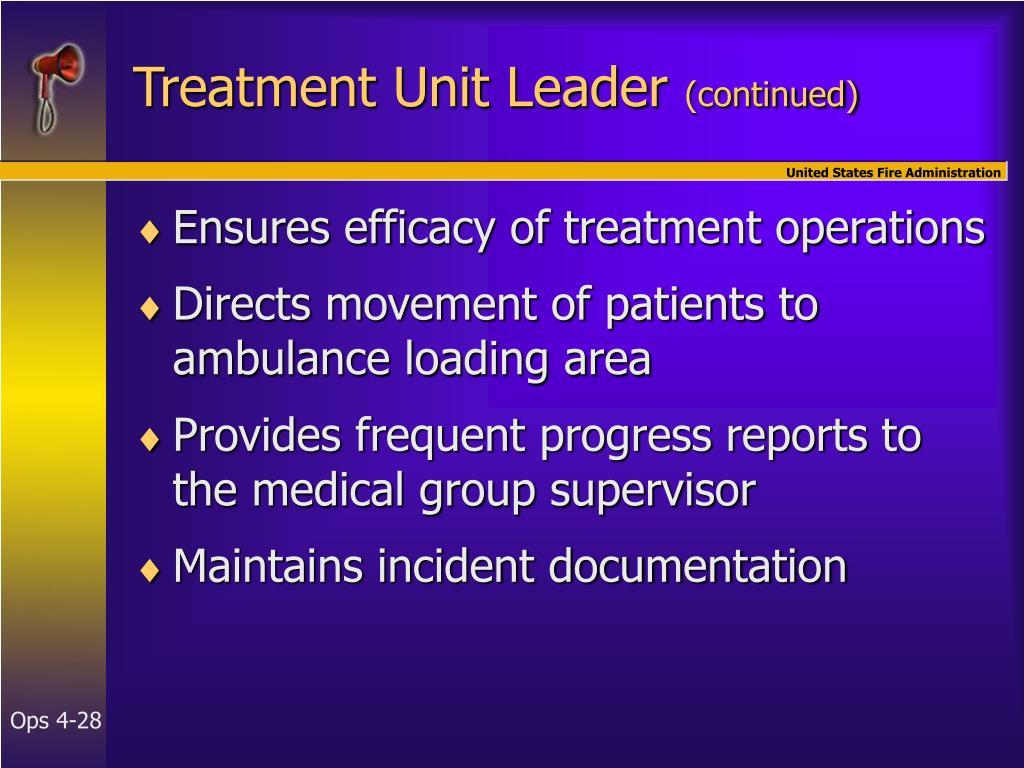 Treatment Unit Leader