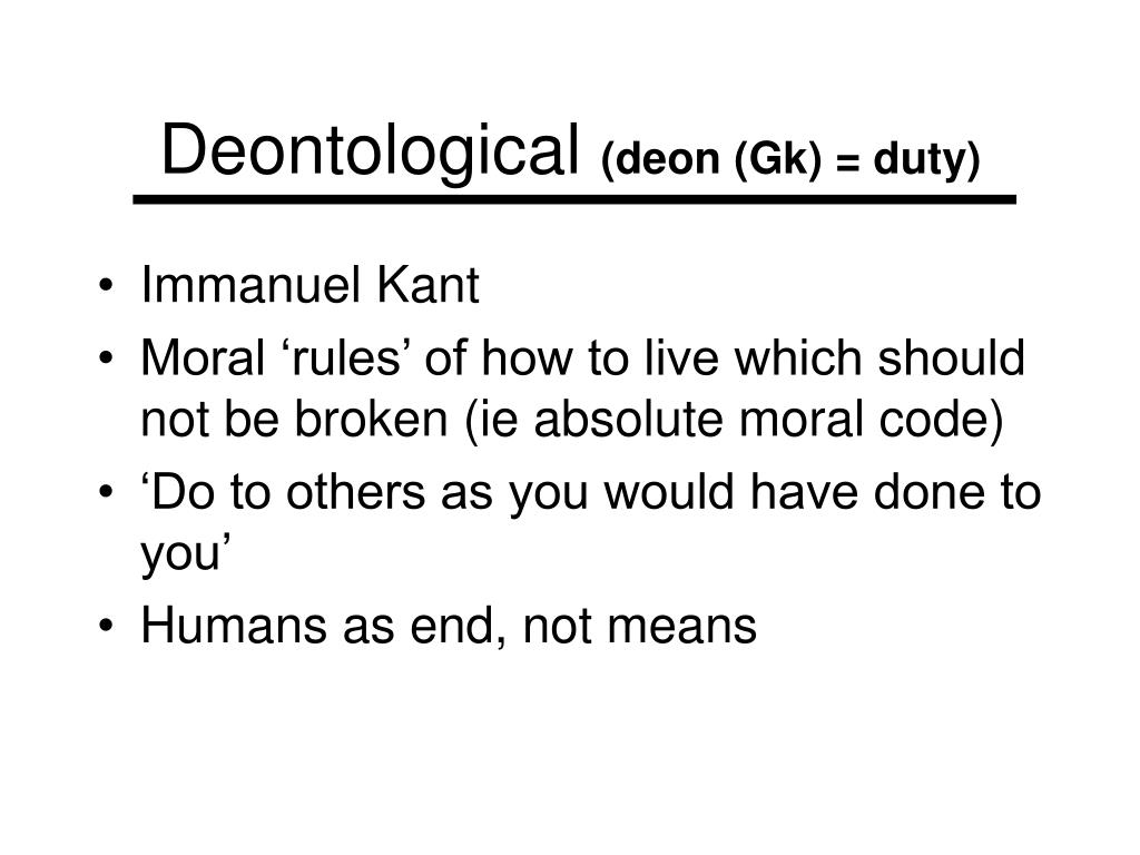 Deontological