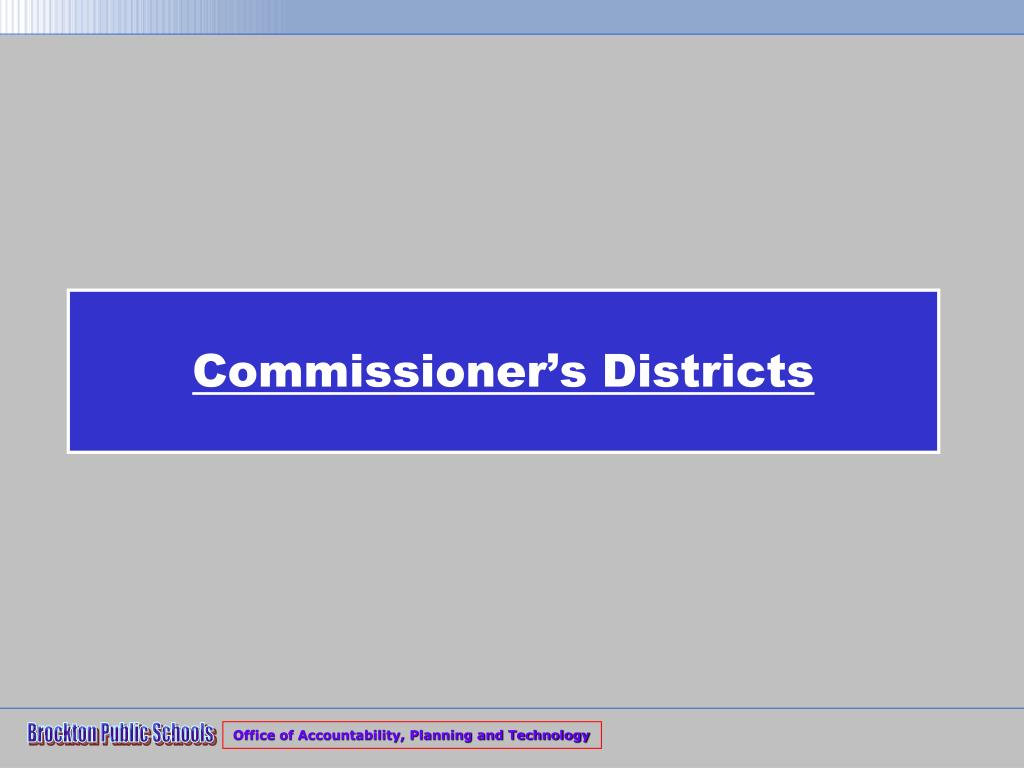 Commissioner's Districts