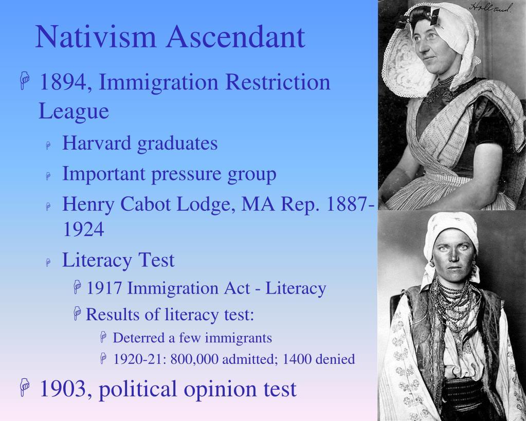 Nativism Ascendant