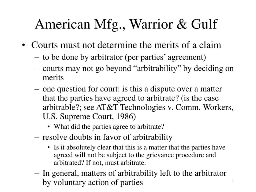 American Mfg., Warrior & Gulf