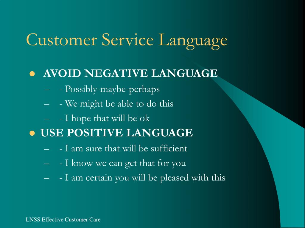 Customer Service Language
