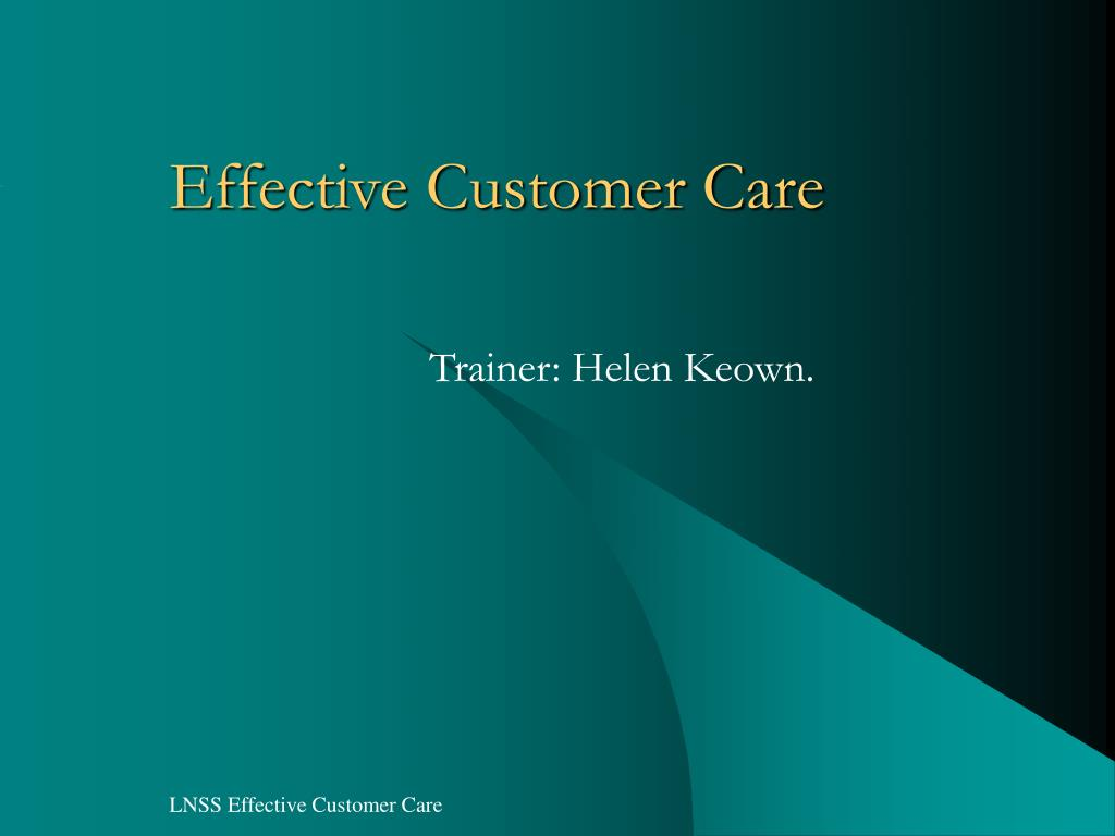 Effective Customer Care