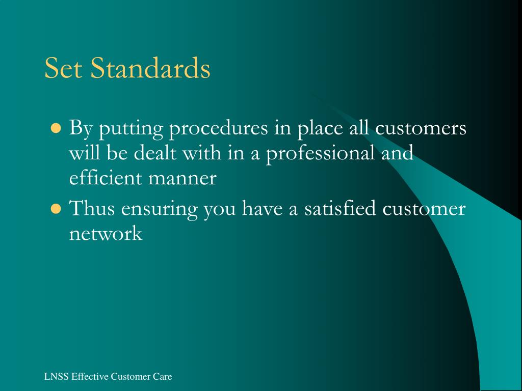 Set Standards