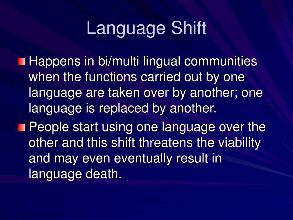 Language Shift