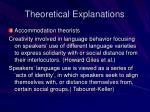 theoretical explanations15