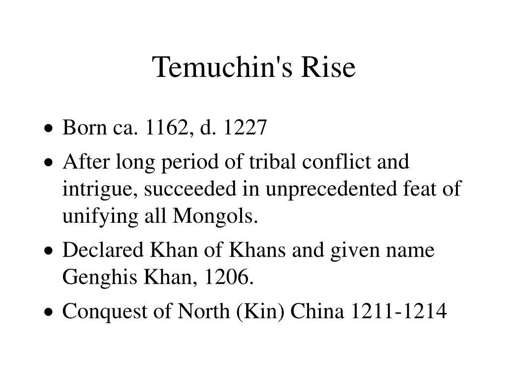 Temuchin's Rise