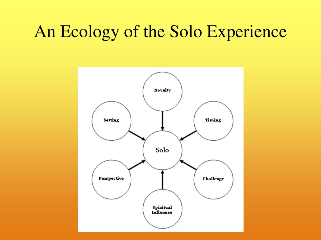 An Ecology of the Solo Experience