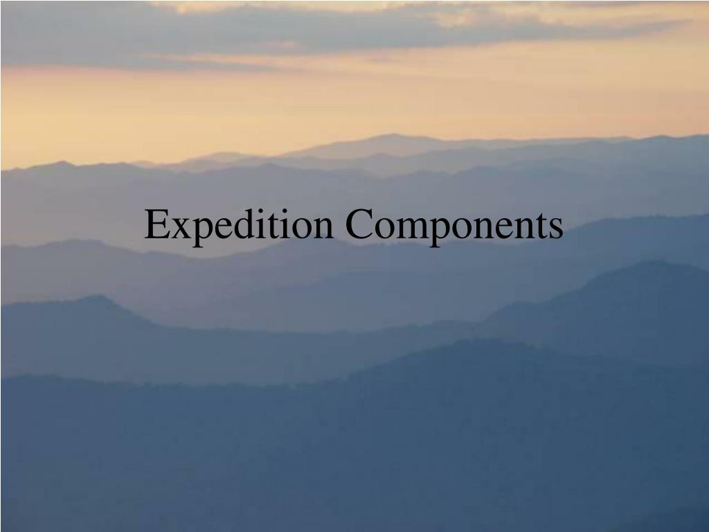 Expedition Components
