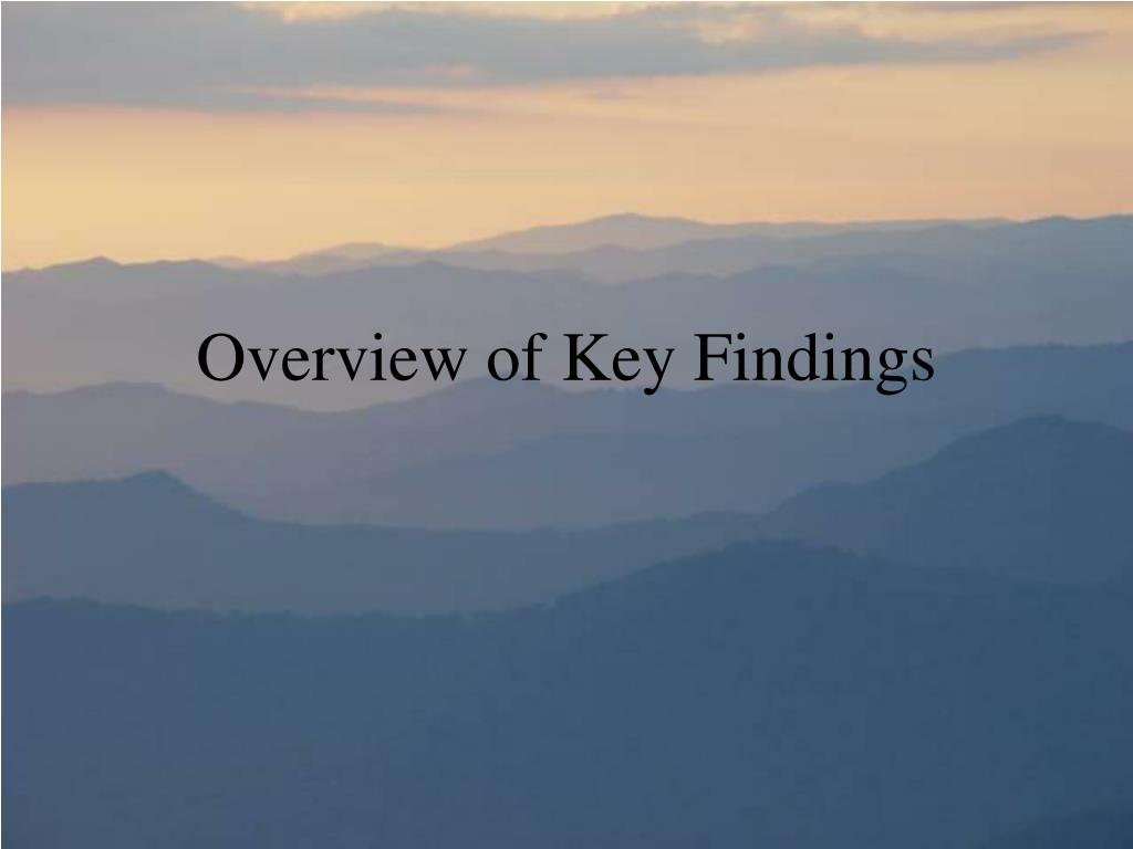 Overview of Key Findings