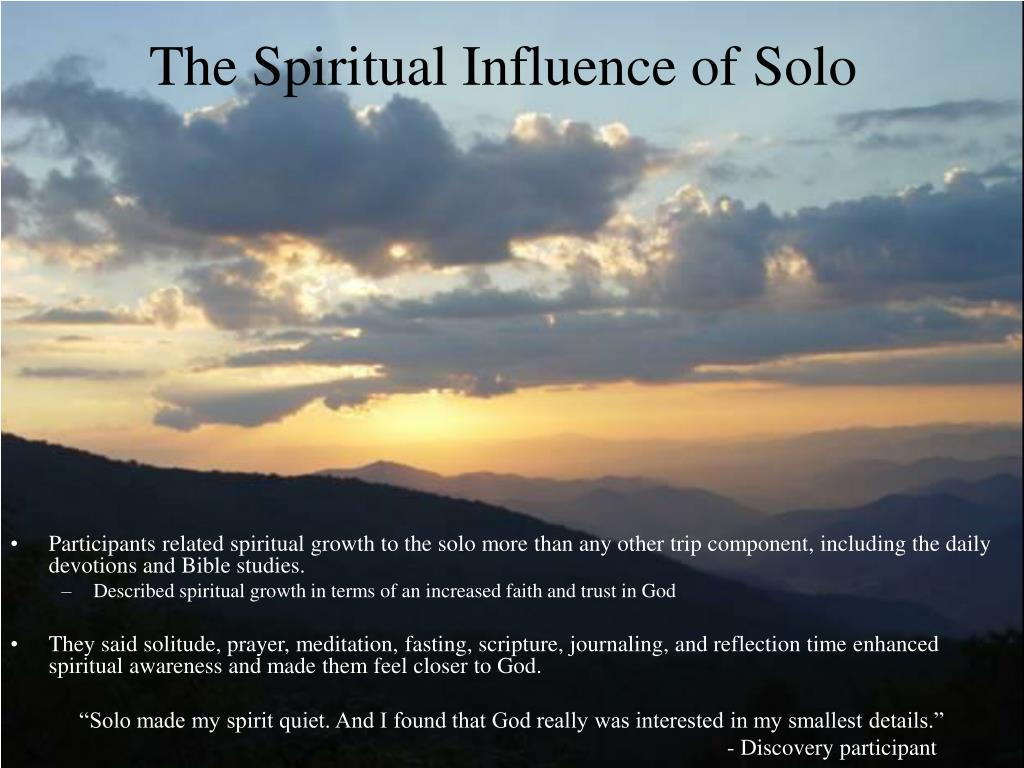 The Spiritual Influence of Solo