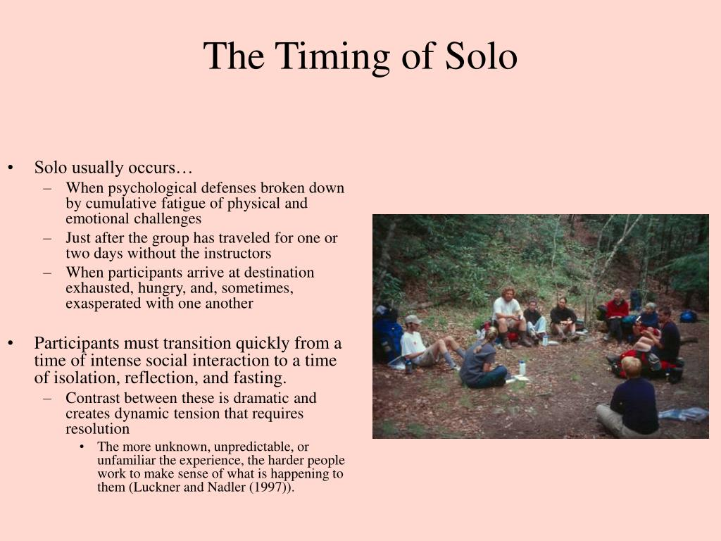 The Timing of Solo