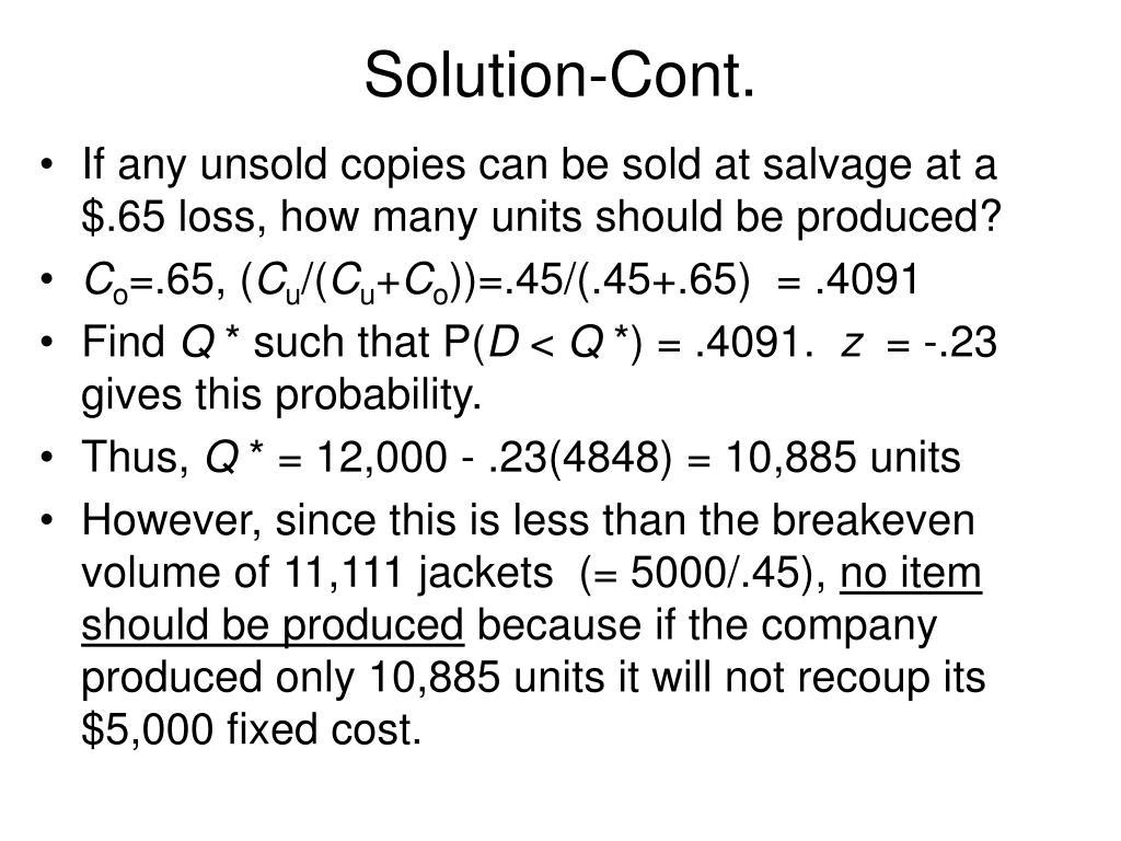 Solution-Cont.