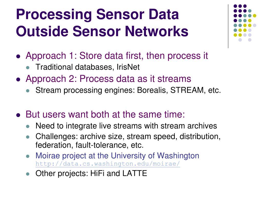 Processing Sensor Data Outside Sensor Networks