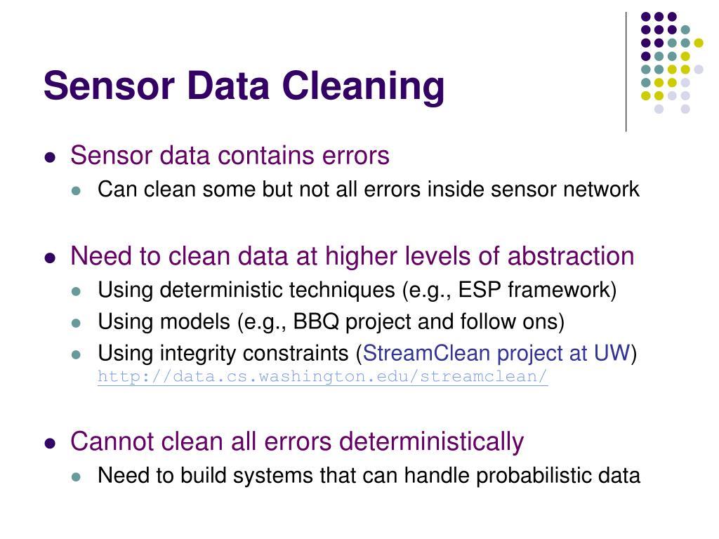 Sensor Data Cleaning