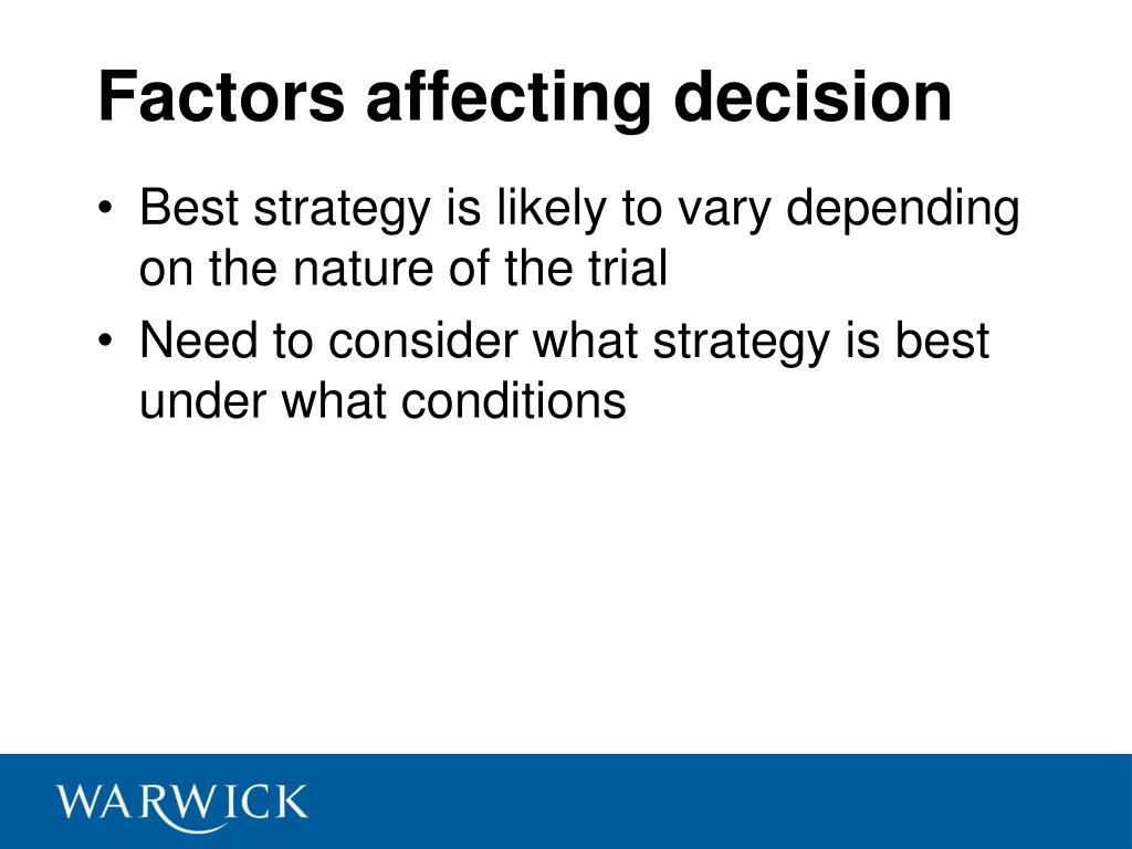 Factors affecting decision