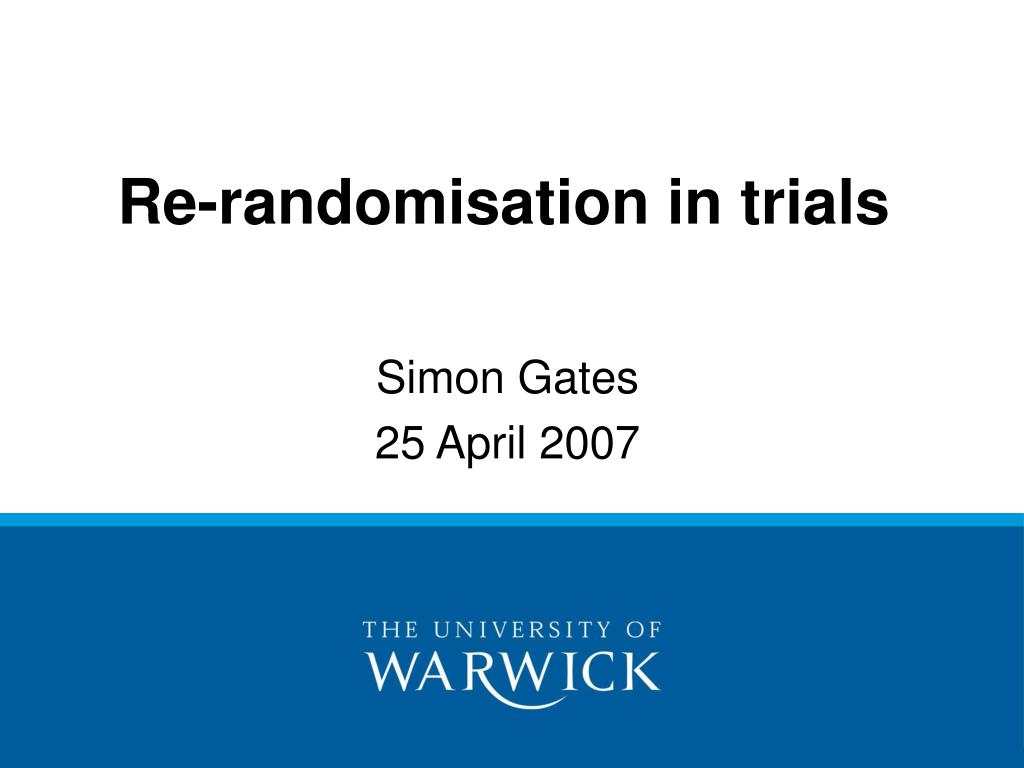 Re-randomisation in trials
