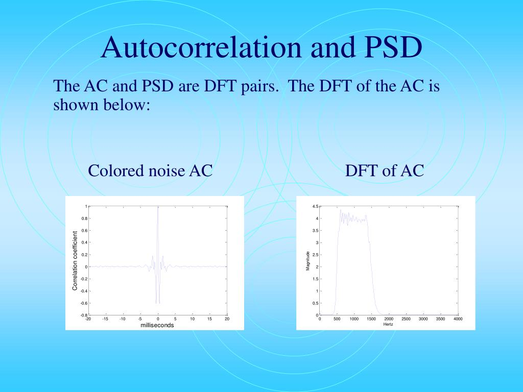 Autocorrelation and PSD