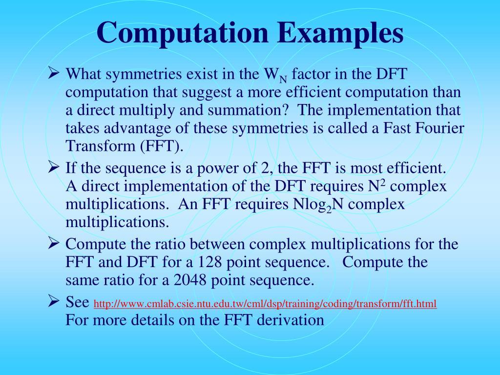 Computation Examples