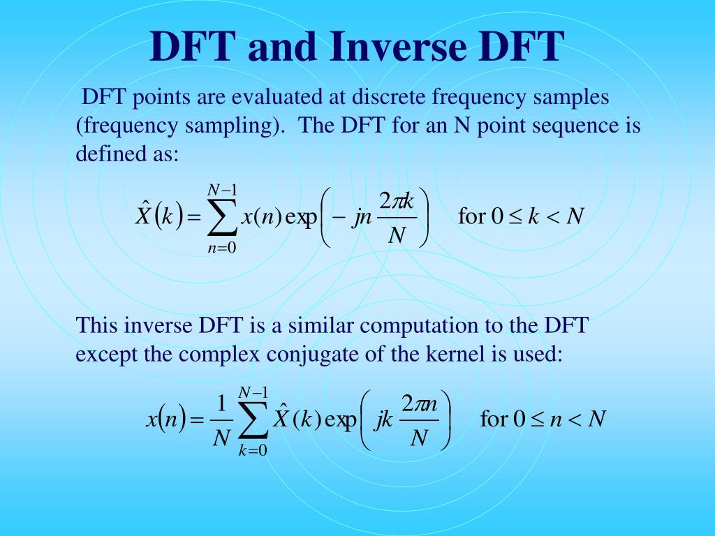 DFT and Inverse DFT
