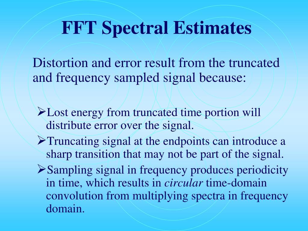 FFT Spectral Estimates