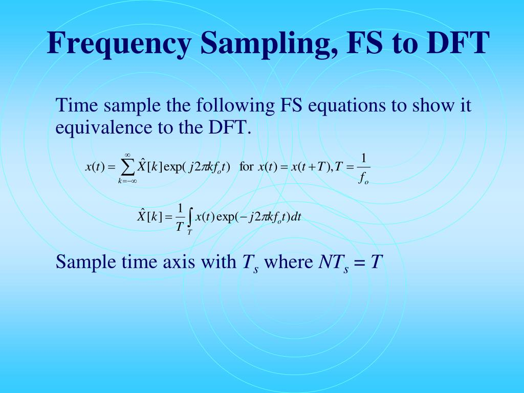 Frequency Sampling, FS to DFT