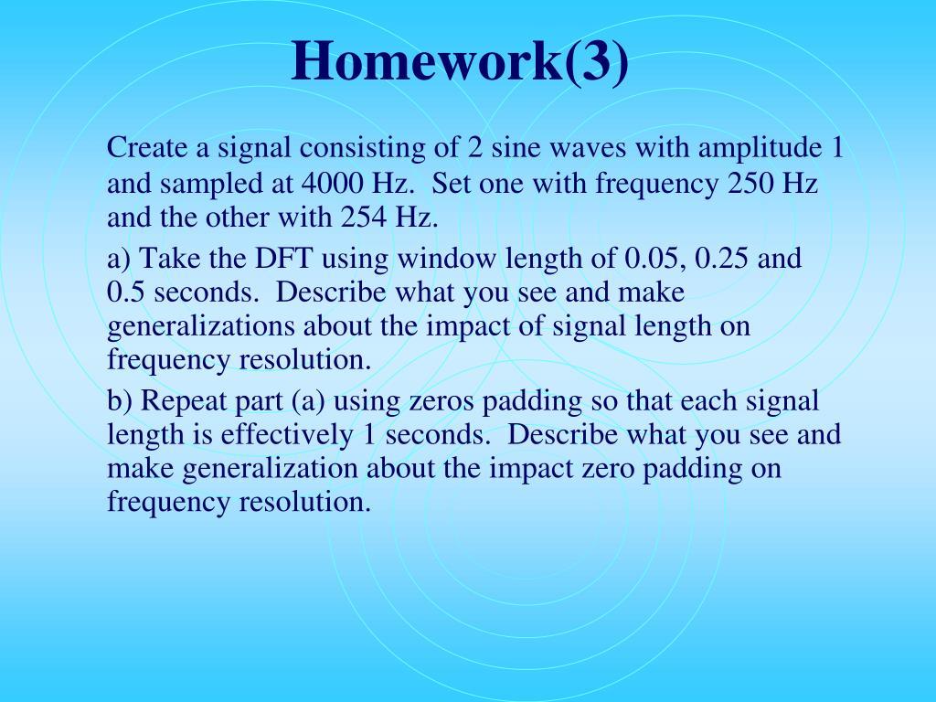 Homework(3)