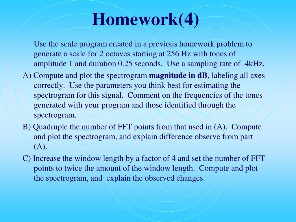Homework(4)