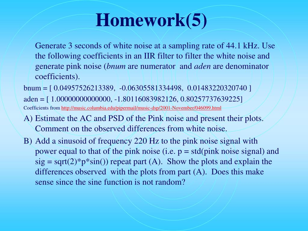 Homework(5)
