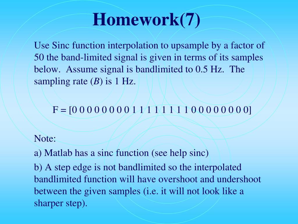 Homework(7)