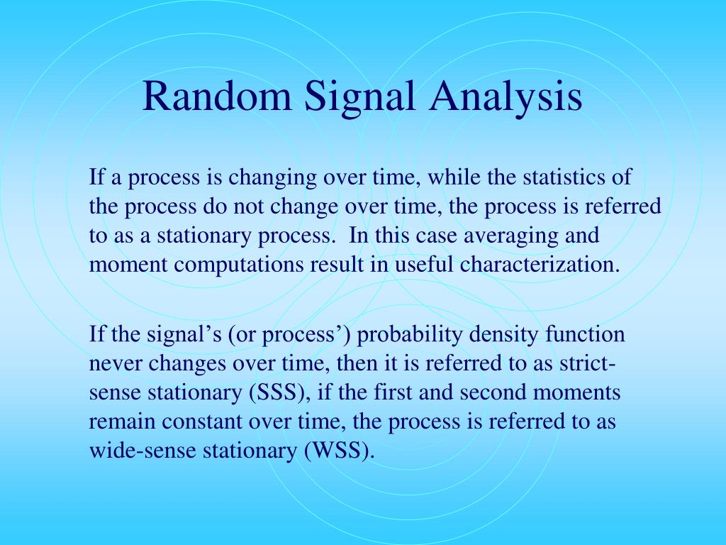 Random Signal Analysis
