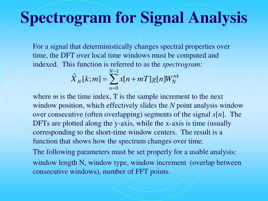 Spectrogram for Signal Analysis