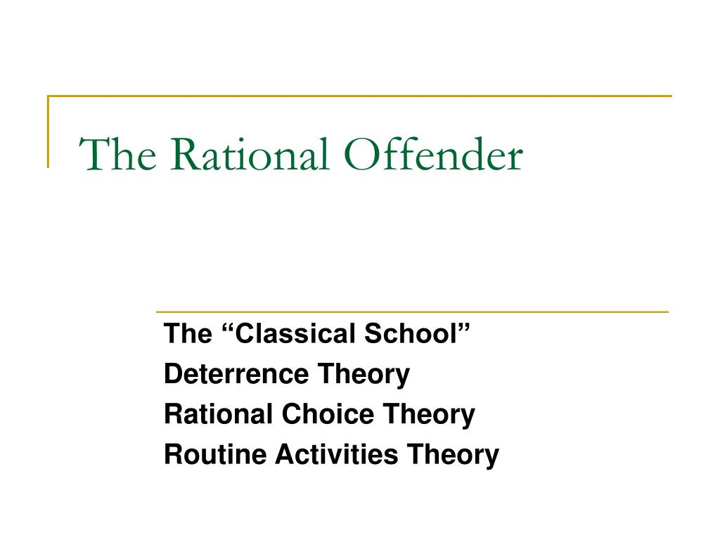 essay on rational choice theory