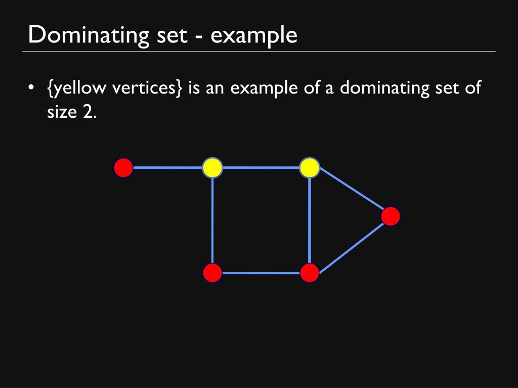 Dominating set - example