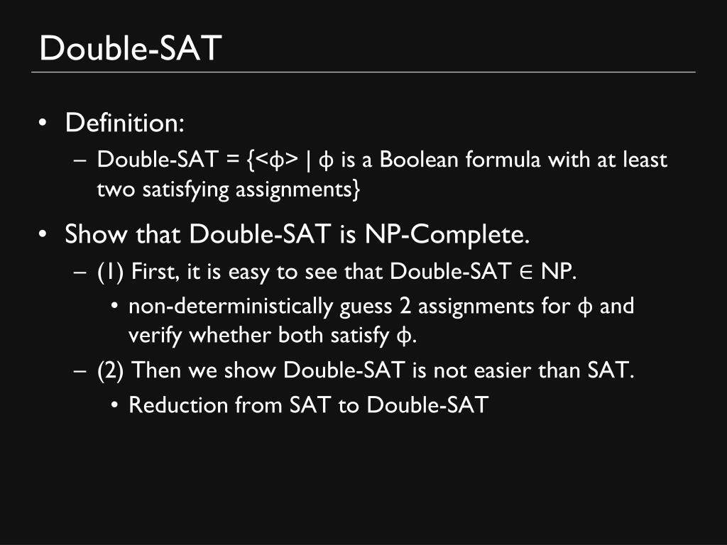 Double-SAT