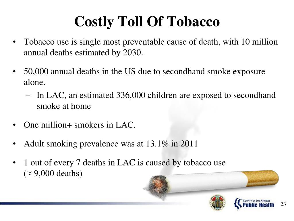 Costly Toll Of Tobacco