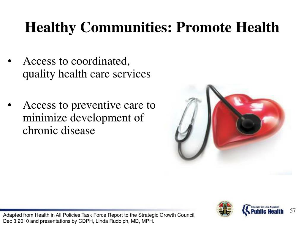 Healthy Communities: Promote Health