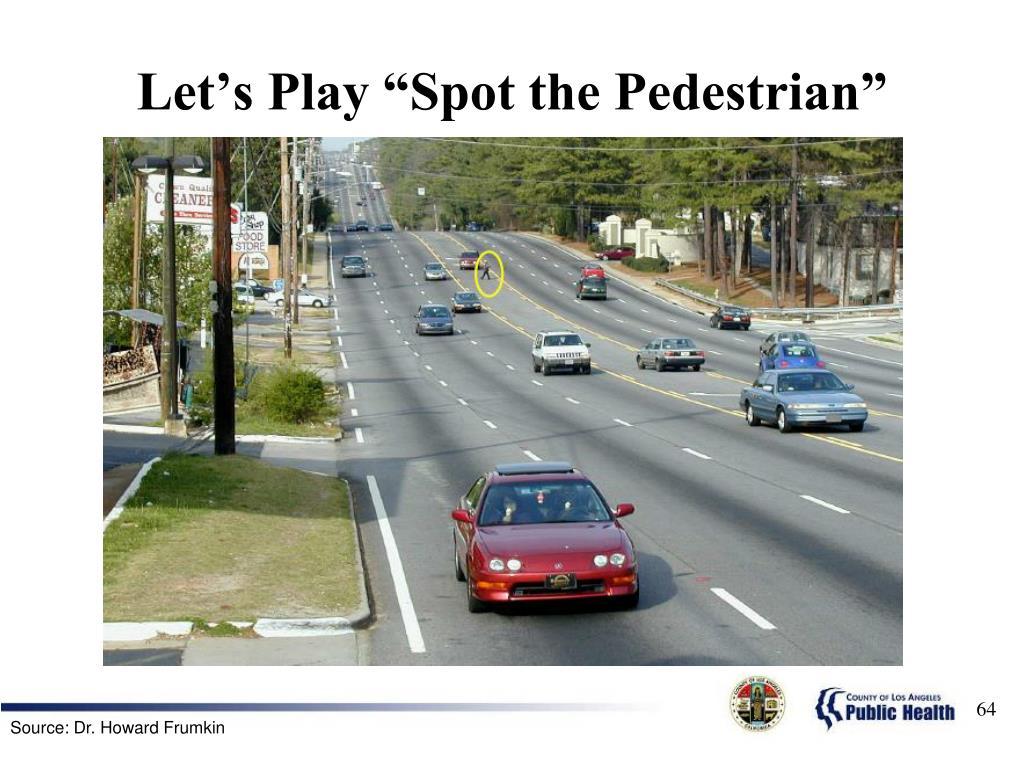 "Let's Play ""Spot the Pedestrian"""