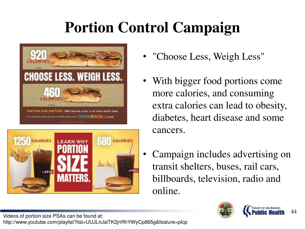 Portion Control Campaign