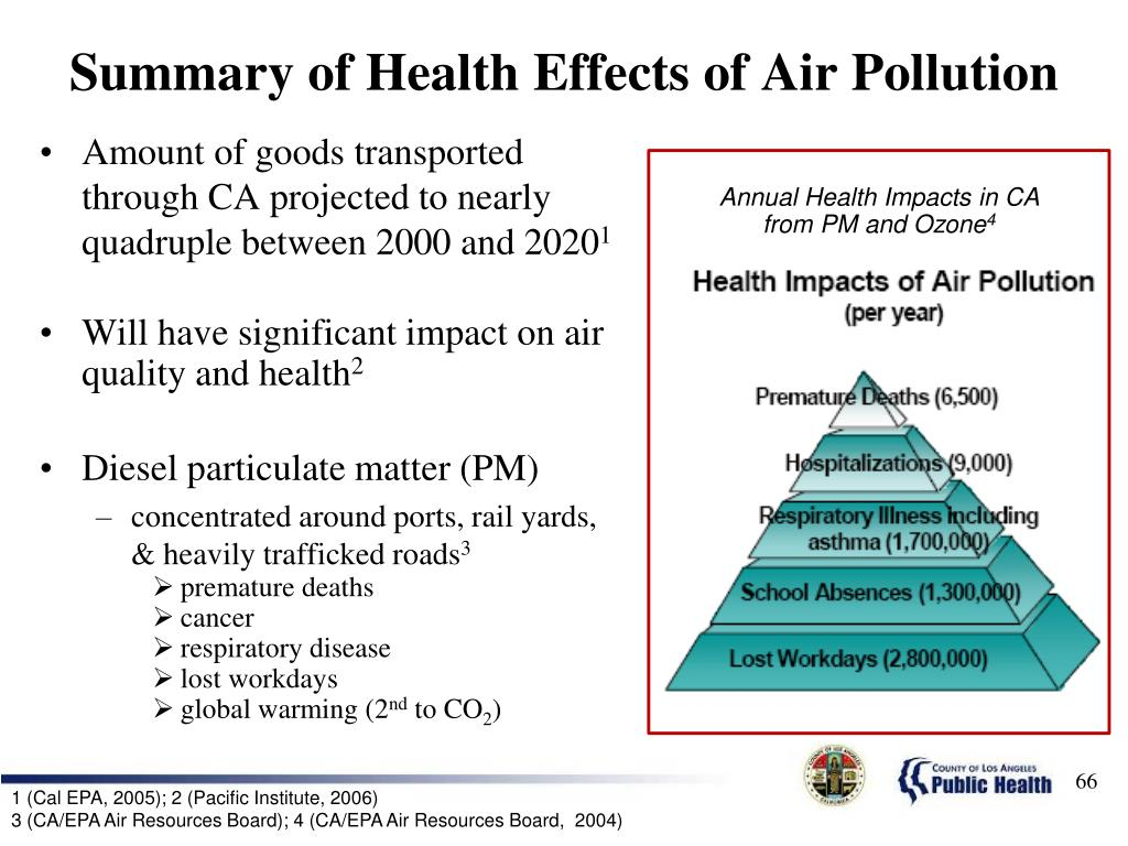 Summary of Health Effects of Air Pollution