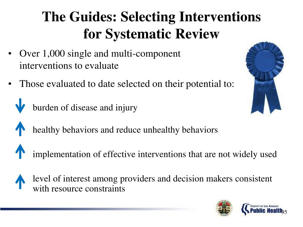The Guides: Selecting Interventions