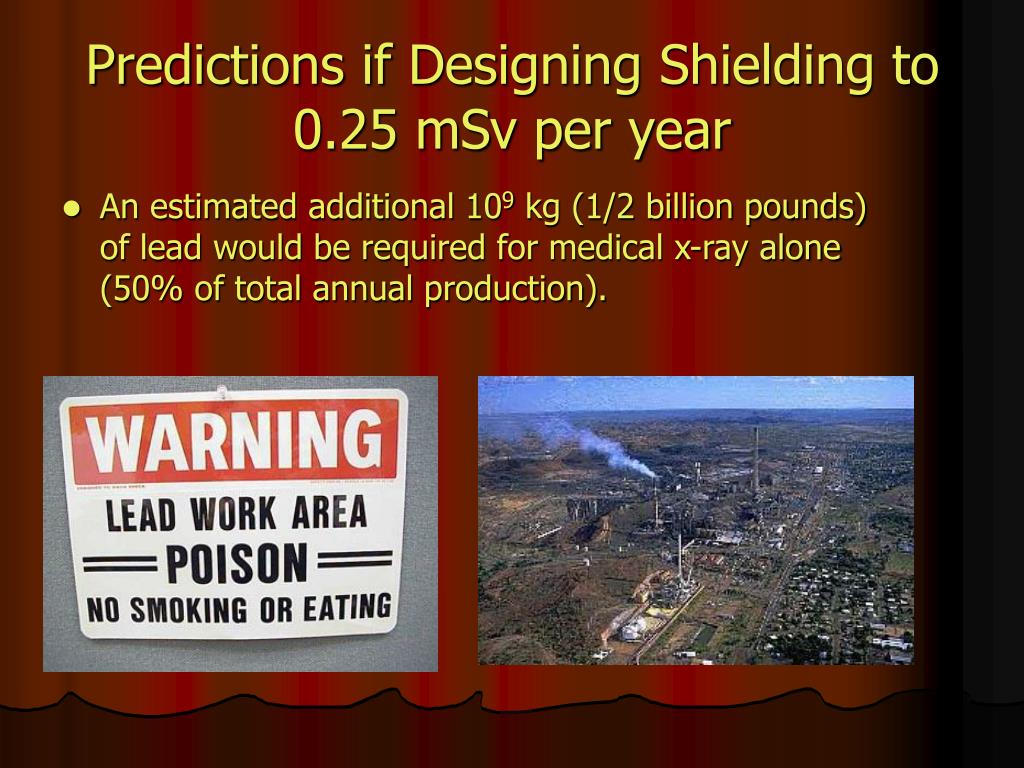 Predictions if Designing Shielding to 0.25 mSv per year