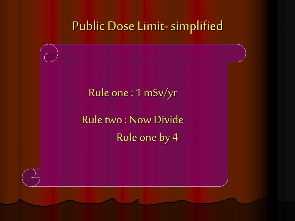 Public Dose Limit- simplified