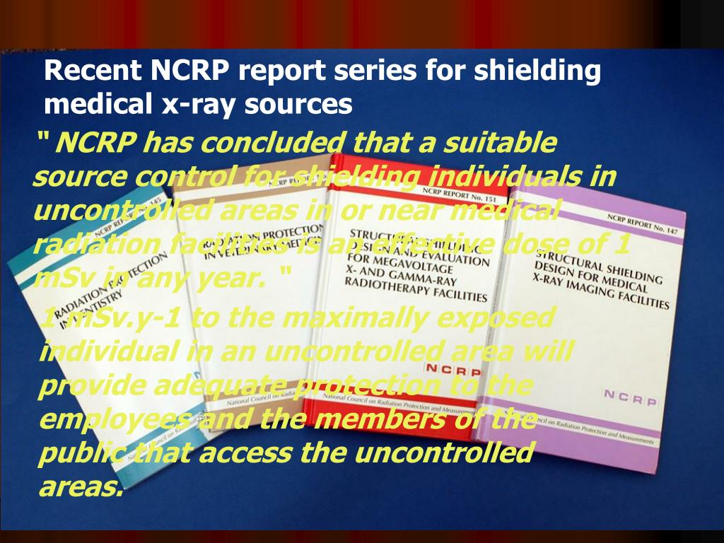 Recent NCRP report series for shielding