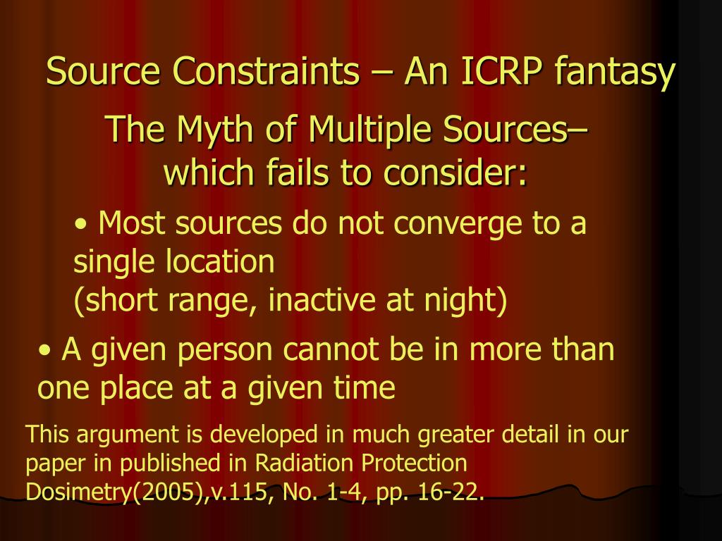 Source Constraints – An ICRP fantasy