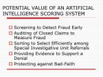 potential value of an artificial intelligence scoring system