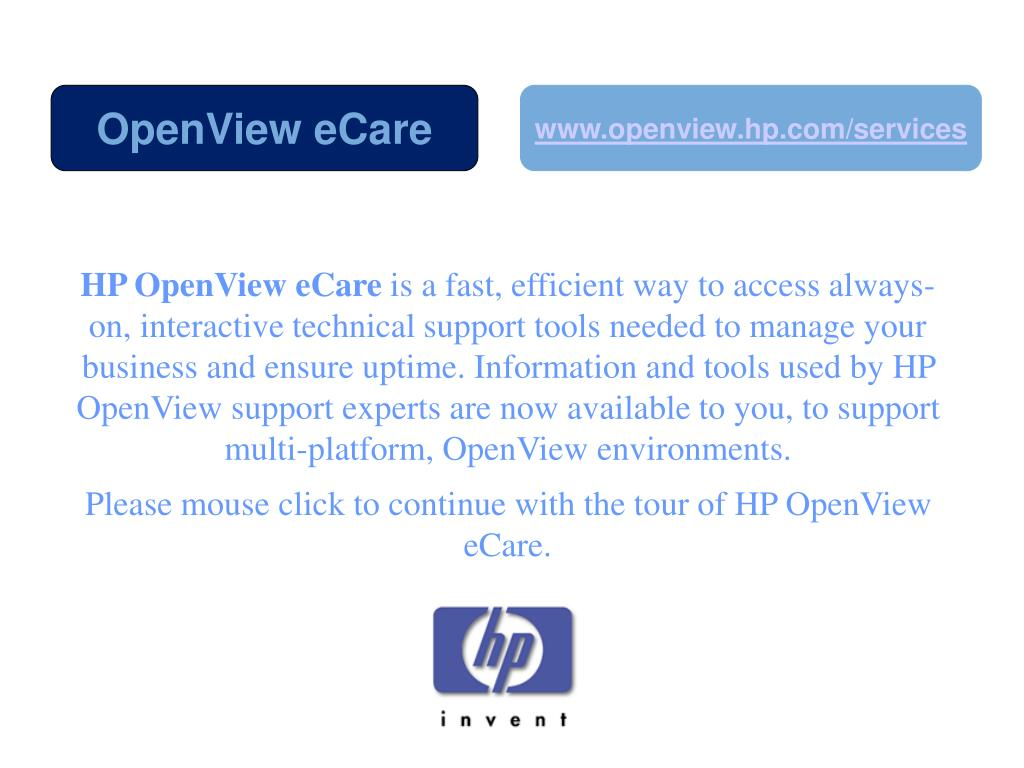 HP OpenView eCare